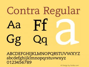 Contra Regular 0.7图片样张