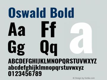Oswald Bold 3.0; ttfautohint (v0.95) -l 8 -r 50 -G 200 -x 0 -w
