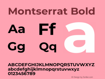Montserrat Bold Version 7.200图片样张