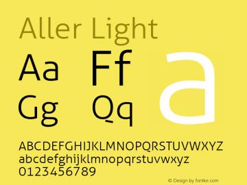 Aller Light Regular Version 1.00图片样张