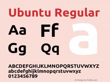 Ubuntu Version 1.0 Font Sample