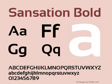 Sansation Bold Version 1.31 Font Sample
