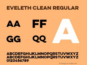 Eveleth Clean Regular Version 1.000图片样张