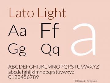 Lato-Light Version 1.104; Western+Polish opensource图片样张