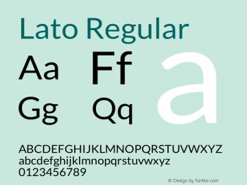Lato Regular Version 1.104; Western+Polish opensource图片样张