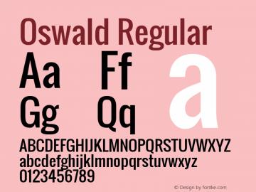 Oswald Regular Version 2.002; ttfautohint (v0.92.18-e454-dirty) -l 8 -r 50 -G 200 -x 0 -w