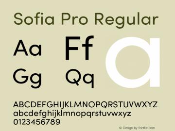 Sofia Pro Regular Version 4.0 Font Sample