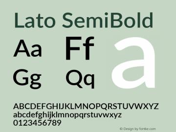 Lato SemiBold Version 2.015; 2015-08-06; http://www.latofonts.com/图片样张