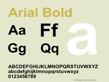 Arial Bold Version 3.00图片样张