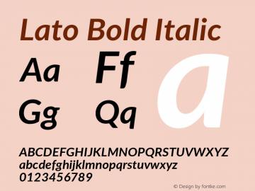 Lato Bold Italic Version 2.010; 2014-09-01; http://www.latofonts.com/图片样张