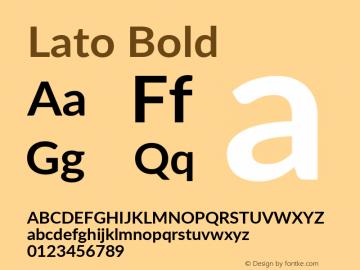 Lato Bold Version 2.010; 2014-09-01; http://www.latofonts.com/图片样张