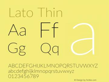 Lato Thin Regular Version 2.010; 2014-09-01; http://www.latofonts.com/图片样张
