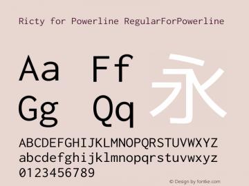Ricty Regular for Powerline Version 3.2.3图片样张