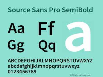 Source Sans Pro SemiBold Version 2.021;PS 2.000;hotconv 1.0.86;makeotf.lib2.5.63406图片样张