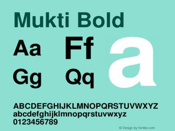 Mukti Bold Version 0.94 November 1, 2003 Font Sample