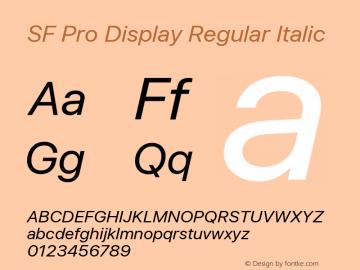 SF Pro Display Regular Italic Version 1.00;September 12, 2020;FontCreator 13.0.0.2683 64-bit图片样张
