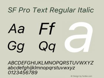 SF Pro Text Regular Italic Version 1.00;September 12, 2020;FontCreator 13.0.0.2683 64-bit图片样张