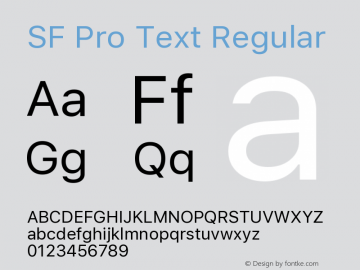 SF Pro Text Version 1.00;September 12, 2020;FontCreator 13.0.0.2683 64-bit图片样张