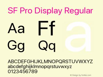 SF Pro Display Version 1.00;September 12, 2020;FontCreator 13.0.0.2683 64-bit图片样张