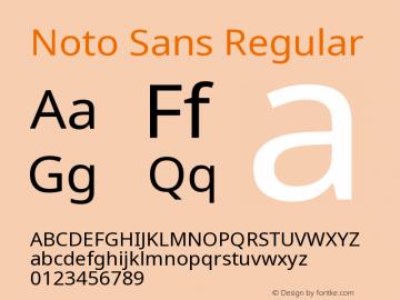 Noto Sans Regular Version 2.000;GOOG;noto-source:20170915:90ef993387c0; ttfautohint (v1.7)图片样张