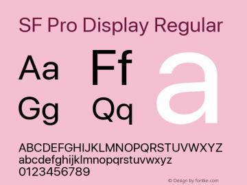 SF Pro Display Version 1.00;September 27, 2020;FontCreator 13.0.0.2683 64-bit图片样张