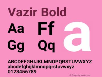 Vazir Bold Version 27.0.0图片样张