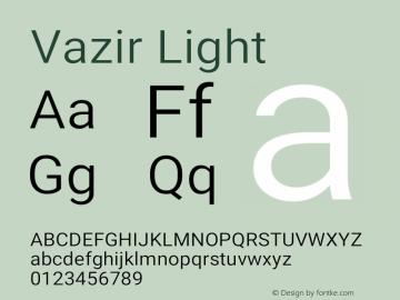 Vazir Light Version 27.0.0图片样张