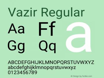 Vazir Regular Version 27.0.0图片样张