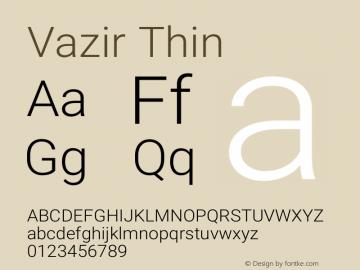 Vazir Thin Version 27.0.0图片样张
