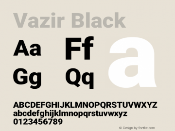 Vazir Black Version 27.0.1图片样张