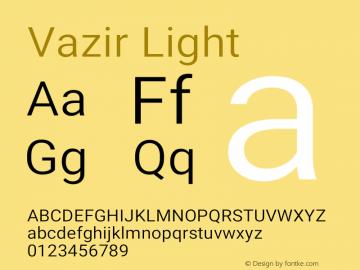 Vazir Light Version 27.0.1图片样张
