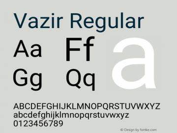 Vazir Regular Version 27.0.1图片样张