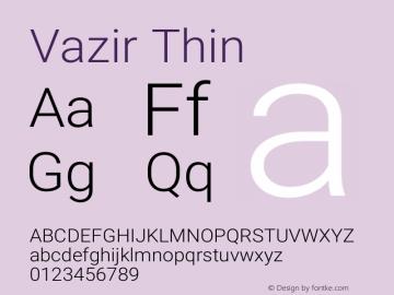 Vazir Thin Version 27.0.1图片样张