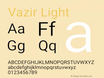 Vazir Light Version 27.0.2图片样张
