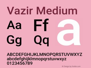 Vazir Medium Version 27.0.2图片样张