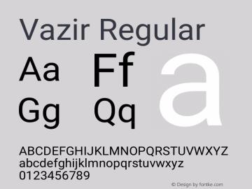 Vazir Regular Version 27.0.2图片样张