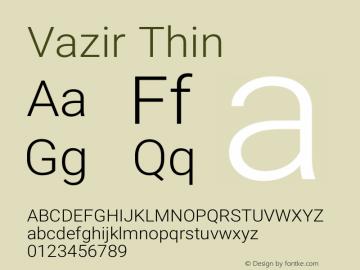 Vazir Thin Version 27.0.2图片样张