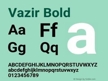 Vazir Bold Version 27.0.3图片样张