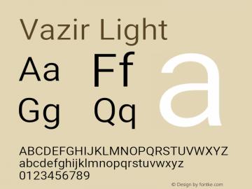 Vazir Light Version 27.0.3图片样张