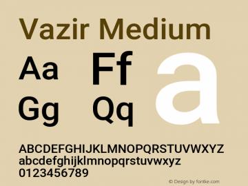 Vazir Medium Version 27.0.3图片样张