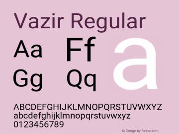 Vazir Regular Version 27.0.3图片样张