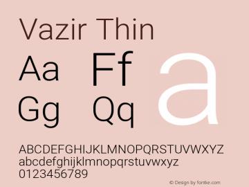 Vazir Thin Version 27.0.3图片样张