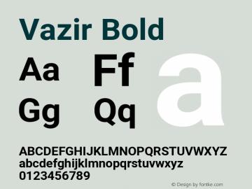 Vazir Bold Version 27.1.0图片样张