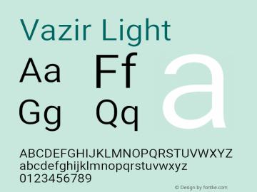 Vazir Light Version 27.1.0图片样张