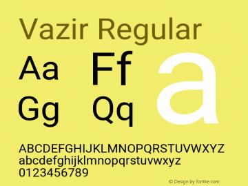 Vazir Regular Version 27.1.0图片样张