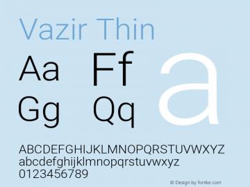 Vazir Thin Version 27.1.0图片样张