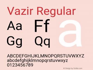 Vazir Regular Version 27.2.0图片样张