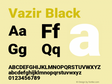 Vazir Black Version 27.2.0图片样张