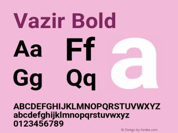 Vazir Bold Version 27.2.0图片样张