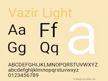 Vazir Light Version 27.2.0图片样张